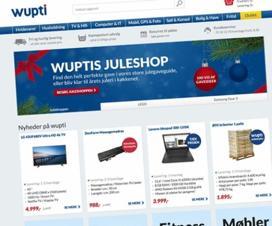 Wupti's webshop manages more than 15,000 product items