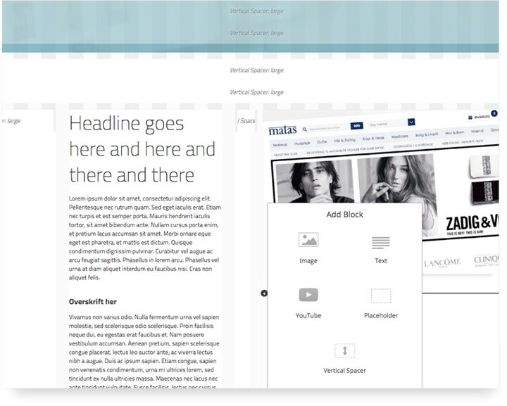 Hesehus CMS is customised exactly to match your company