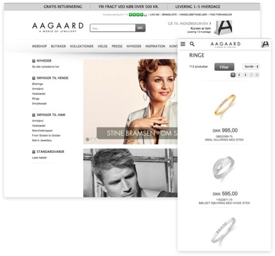 Aagaard lancerer ny forhandlerwebshop