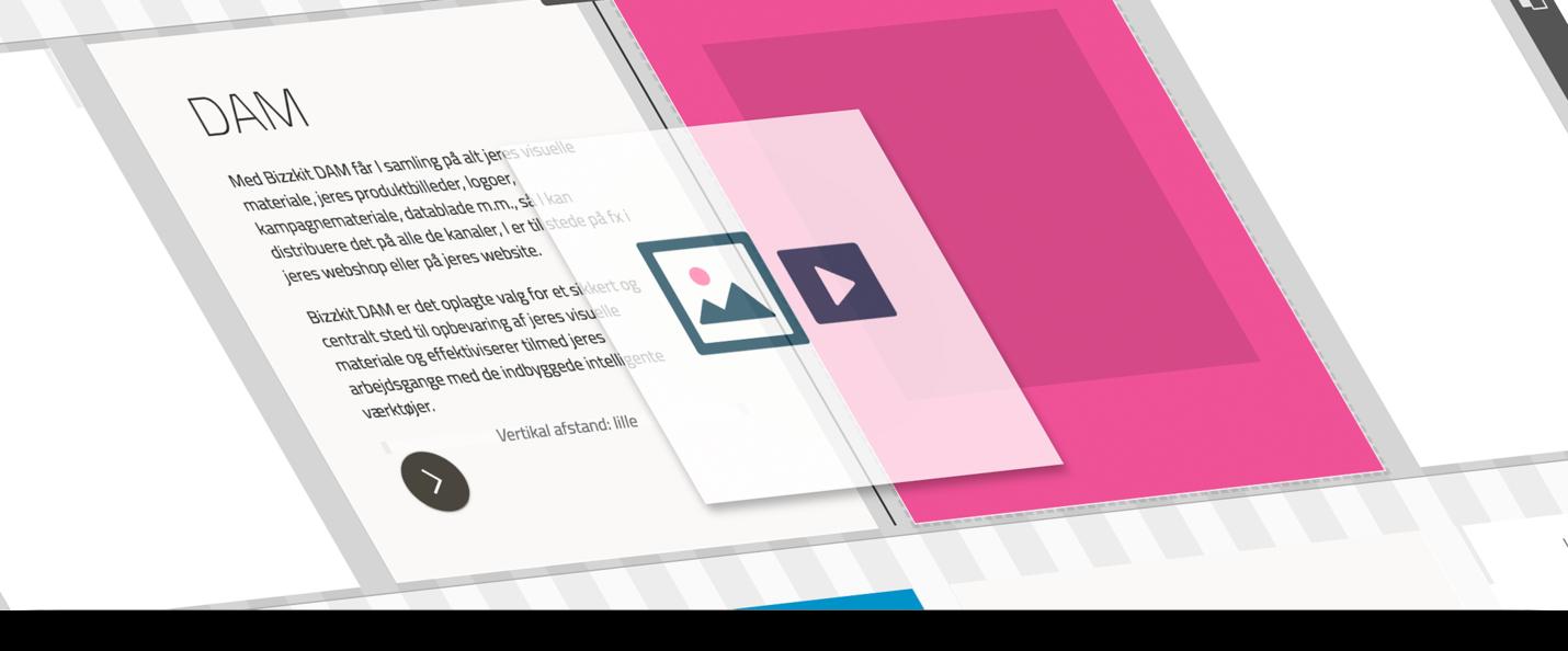 Opbyg nemt indhold med drag og drop indholdsblokke