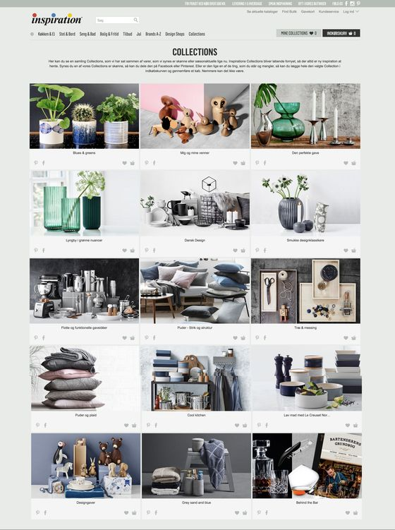 Collections is a new feature in Inspiration's webshop