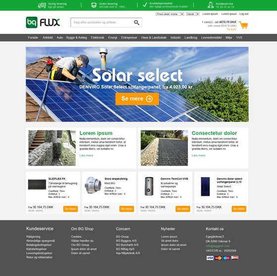 User-friendly webshop combines five brands