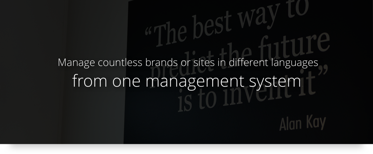 Central management with Bizzkit Webshop