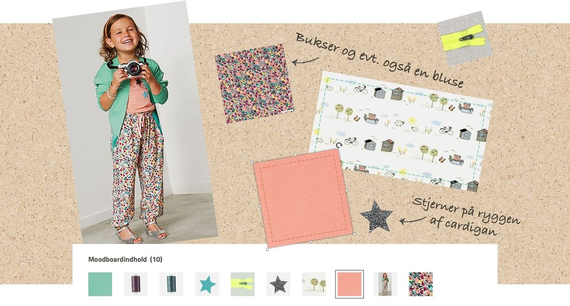 Stof and stil moodboard is the webshop's digital creative space
