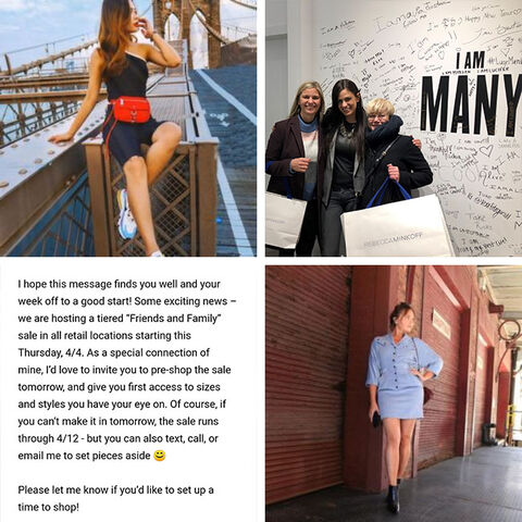 Hesehus visits the Rebecca Minkoff flagship store in New York, clothing from Rebecca Minkoff, Personal emails to customers