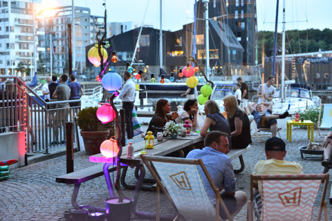 Hesehus summer party on the harbour of Odense