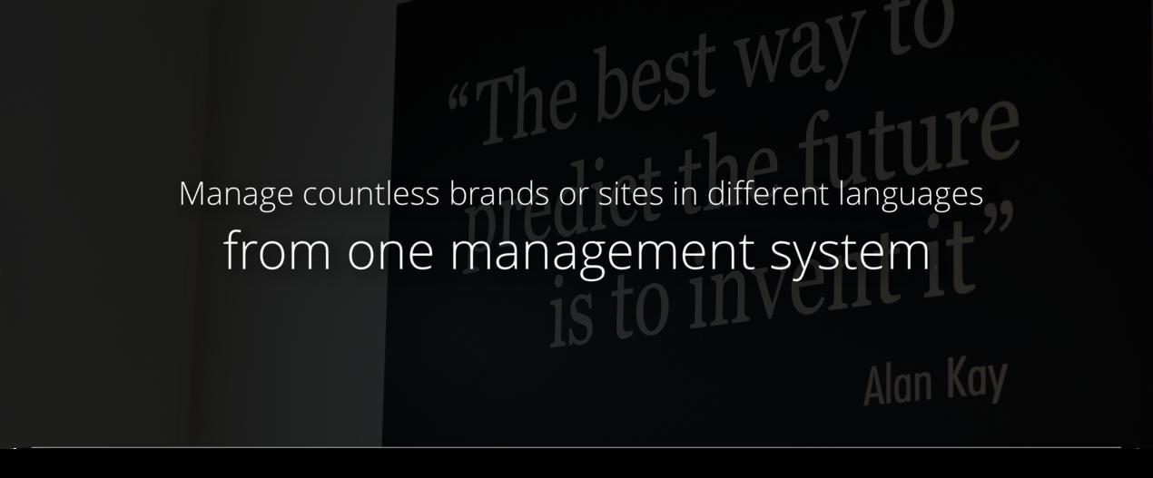 Central management with Bizzkit Webshop