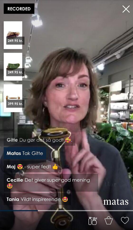 Shop live med en Matas-materialist