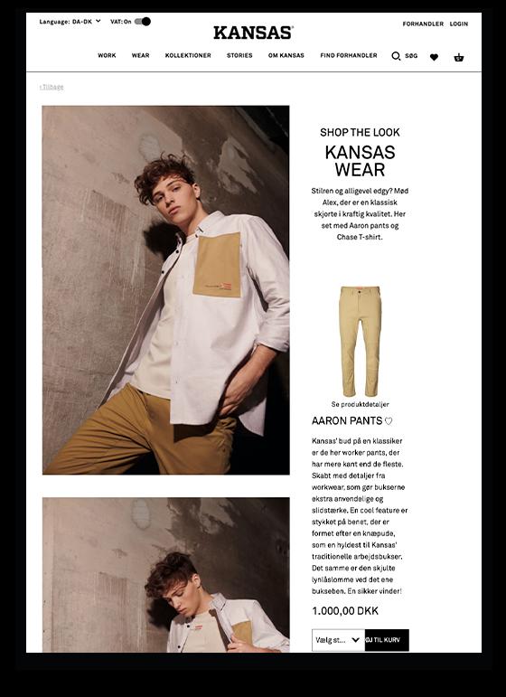Kansas introducerer featuren 'Shop the look'