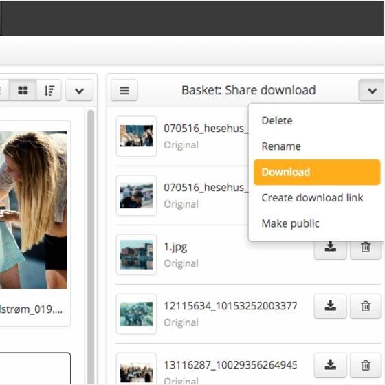 Del nemt jeres visuelle materiale med leverandører og pressen med Bizzkit DAM