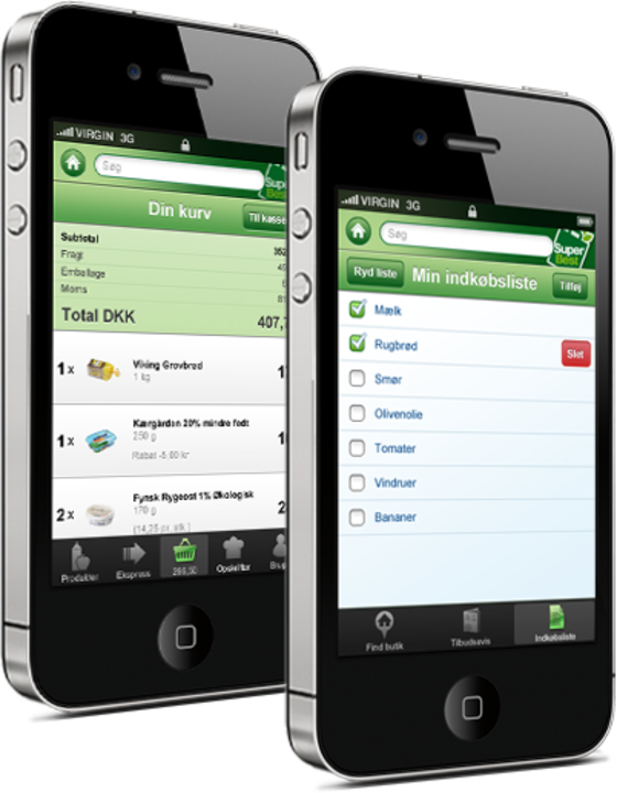 SuperBest's app for buying groceries developed by Hesehus
