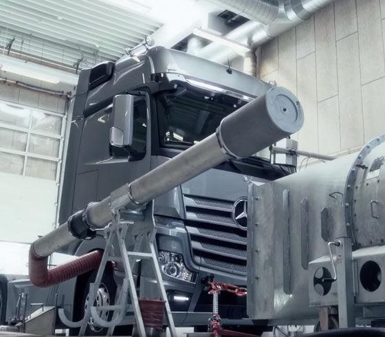 Udstødningsprodukter til tunge kørertøjer og diselmotorer