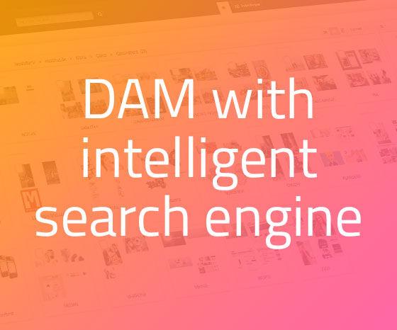 Bizzkit DAM has an integrated intelligent search engine
