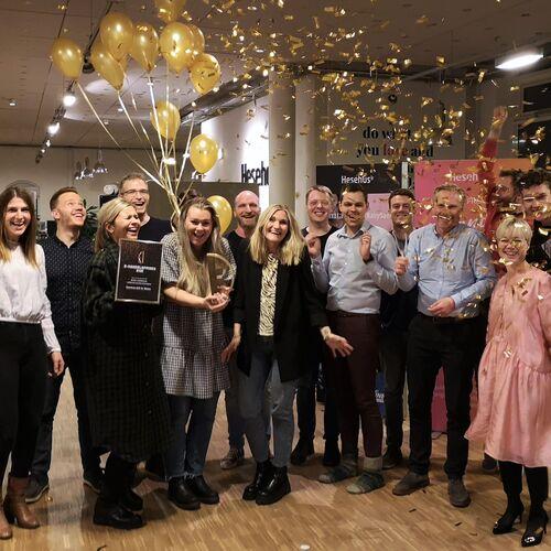 Celebration at the E-commerce Award 2020