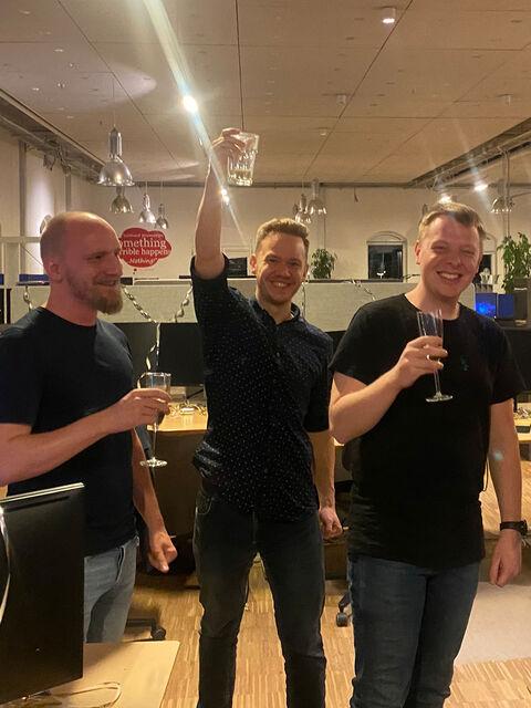Hesehusians celebrating during the E-commerce Awards 2020