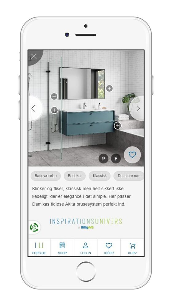 BilligVVS' inspiration universe makes it easy to go from inspiration to purchase